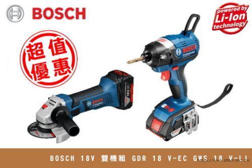 BOSCH 18V 雙機組 GWS18V-Li + GDR18V-EC