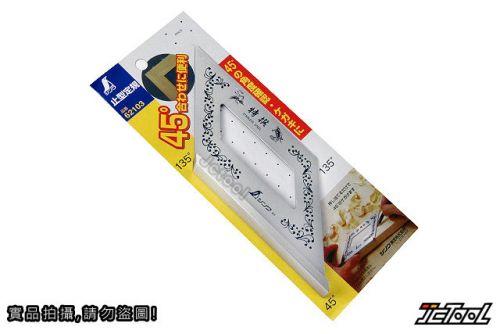 SHINWA 45/135度規 止型定規 62103