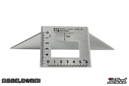SHINWA 台形止型定規 45度規